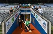 5 August 2020; On the 23rd September, the GAA invites all clubs to open their doors to the wider community and support it's first GAA National Inclusive Fitness Day. The event falls during the European Week of Sport and aims to promote sport and physical activity to everyone regardless of age, ability, ethnicity, nationality or fitness level. In attendance at the announcement of the GAA's first National Inclusive Fitness Day at Croke Park in Dublin are, clockwise from left, Aoife Reilly, GAA Healthy Club Administrator, MEP Maria Walsh, Brian Armitage, Chairman, GAA For All National Committee, Anne Rabbitte T.D., Minister of State, Department of Children, Disability, Equality and Integration with responsibility for Disability, GAA Ambassador and Westmeath footballer Boidu Sayeh, GAA Ambassador and Leitrim hurler Zak Moradi, Karen Coventry of Special Olympics, Niall Muldoon, Ombudsman for Children, Caroline Flynn, BeLonG To Youth Services, GAA Community and Health Manager Colin Regan, Leinster wheelchair hurler Sean Bennett, and GAA Diversity and Inclusion officer Geraldine McTavish. Photo by Brendan Moran/Sportsfile