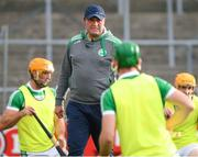 31 July 2020; Ballyhale Shamrocks manager James O'Connor with his players before the Kilkenny County Senior Hurling League Group A match between Ballyhale Shamrocks and Tullaroan at UPMC Nowlan Park in Kilkenny. GAA matches continue to take place in front of a limited number of people in an effort to contain the spread of the Coronavirus (COVID-19) pandemic. Photo by Matt Browne/Sportsfile