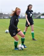 4 August 2020; Shauna Brennan during Republic of Ireland Women's Under-17 Training Camp at Tramore AFC in Waterford. Photo by Piaras Ó Mídheach/Sportsfile