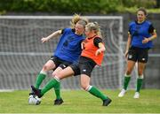 4 August 2020; Therese Kinneavey, left, and Kerry Brown during Republic of Ireland Women's Under-17 Training Camp at Tramore AFC in Waterford. Photo by Piaras Ó Mídheach/Sportsfile