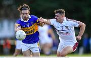 5 August 2020; James Tolan of Castleknock in action against Brian Howard of Raheny during the Dublin County Senior Football Championship Round 2 match between Raheny and Castleknock at St Anne's Park in Raheny, Dublin. Photo by Piaras Ó Mídheach/Sportsfile