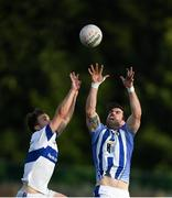 5 August 2020; Michael Darragh Macauley of Ballyboden St Endas in action against Cameron Diamond of St Vincent's during the Dublin County Senior Football Championship Round 2 match between St Vincent's and Ballyboden St Endas at Pairc Naomh Uinsionn in Marino, Dublin. Photo by Stephen McCarthy/Sportsfile