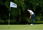 6 August 2020; AIG today launched this year's AIG Cups & Shields at the GUI National Golf Academy at Carton House in Maynooth, Kildare. On hand were Ireland golf team member Keith Egan, pictured, as well as Dublin footballer Davy Byrne, and Dublin Camogie player Hannah Hegarty. AIG Insurance is offering exclusive discounts to GUI and ILGU members. For a quote, go to www.aig.ie/golfer Photo by Sam Barnes/Sportsfile