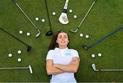 6 August 2020; AIG today launched this year's AIG Cups & Shields at the GUI National Golf Academy at Carton House in Maynooth, Kildare. On hand were Dublin Camogie player Hannah Hegarty, pictured, as well as Ireland golf team member Keith Egan and Dublin footballer Davy Byrne. AIG Insurance is offering exclusive discounts to GUI and ILGU members. For a quote, go to www.aig.ie/golfer Photo by Sam Barnes/Sportsfile