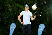 6 August 2020; AIG today launched this year's AIG Cups & Shields at the GUI National Golf Academy at Carton House in Maynooth, Kildare. On hand were Dublin footballer David  Byrne, pictured, as well as Ireland golf team member Keith Egan, and Dublin Camogie player Hannah Hegarty. AIG Insurance is offering exclusive discounts to GUI and ILGU members. For a quote, go to www.aig.ie/golfer Photo by Sam Barnes/Sportsfile