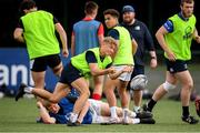 6 August 2020; Fintan Gunne in action during the Leinster U18 Schools Training at Terenure RFC in Lakeland's Park in Dublin. Photo by Matt Browne/Sportsfile