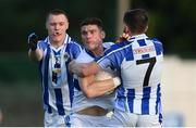 5 August 2020; Diarmuid Connolly of St Vincent's in action against Kieran Kennedy, left, and Darragh Nelson of Ballyboden St Endas during the Dublin County Senior Football Championship Round 2 match between St Vincent's and Ballyboden St Endas at Pairc Naomh Uinsionn in Marino, Dublin. Photo by Stephen McCarthy/Sportsfile