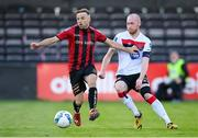 7 August 2020; Chris Shields of Dundalk and Keith Ward of Bohemians during the SSE Airtricity League Premier Division match between Bohemians and Dundalk at Dalymount Park in Dublin. Photo by Stephen McCarthy/Sportsfile