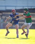 7 August 2020; Billy McCarthy of Thurles Sarsfields in action against John Meagher of Loughmore-Castleiney during the Tipperary County Senior Hurling Championship Group 3 Round 2 match between Loughmore-Castleiney and Thurles Sarsfields at Semple Stadium in Thurles, Tipperary. Photo by Sam Barnes/Sportsfile
