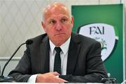 7 August 2020; FAI President Gerry McAnaney during an FAI Press Conference following Special Meeting of FAI National Council at the Red Cow Moran's Hotel in Dublin. Photo by Brendan Moran/Sportsfile