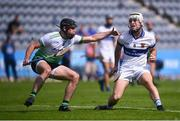 8 August 2020; Mark Sweeney of St Vincent's in action against Ronan Smith of Lucan Sarsfields during the Dublin County Senior Hurling Championship Group 1 Round 3 match between St Vincent's and Lucan Sarsfields at Parnell Park in Dublin. Photo by David Fitzgerald/Sportsfile