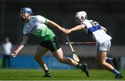8 August 2020; John Bellew of Lucan Sarsfields in action against Jamie Mulcahy of St Vincent's during the Dublin County Senior Hurling Championship Group 1 Round 3 match between St Vincent's and Lucan Sarsfields at Parnell Park in Dublin. Photo by David Fitzgerald/Sportsfile