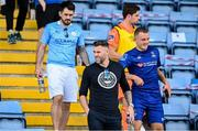 8 August 2020; Former Republic of Ireland international Daryl Murphy, second from left, in attendance during the SSE Airtricity League Premier Division match between Waterford and Cork City at RSC in Waterford. Photo by Sam Barnes/Sportsfile
