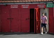 8 August 2020; A spectator arrives prior to the SSE Airtricity League Premier Division match between Sligo Rovers and Shelbourne at The Showgrounds in Sligo. Photo by Stephen McCarthy/Sportsfile
