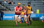 8 August 2020; Diarmuid O'Floinn of Cuala in action against Sean Baxter of Na Fianna during the Dublin County Senior Hurling Championship Group 4 Round 3 match between Na Fianna and Cuala at Parnell Park in Dublin. Photo by David Fitzgerald/Sportsfile