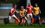 8 August 2020; Fergal Breathnach of Na Fianna in action against Mark Schutte of Cuala during the Dublin County Senior Hurling Championship Group 4 Round 3 match between Na Fianna and Cuala at Parnell Park in Dublin. Photo by David Fitzgerald/Sportsfile