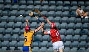 8 August 2020; Con O'Callaghan of Cuala in action against Fergal Breathnach of Na Fianna during the Dublin County Senior Hurling Championship Group 4 Round 3 match between Na Fianna and Cuala at Parnell Park in Dublin. Photo by David Fitzgerald/Sportsfile