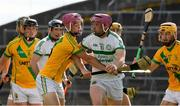 8 August 2020; Paudie O'Brien of Kilmallock in action against Paddy Morrissey of Ahane at the Limerick County Senior Hurling Championship Section A Group 2 Round 3 match between Kilmallock and Ahane at LIT Gaelic Grounds in Limerick. Photo by Matt Browne/Sportsfile