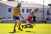 8 August 2020; Shane Barrett of Na Fianna in action against Niall Carty of Cuala during the Dublin County Senior Hurling Championship Group 4 Round 3 match between Na Fianna and Cuala at Parnell Park in Dublin. Photo by David Fitzgerald/Sportsfile