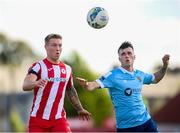 8 August 2020; Jesse Devers of Sligo Rovers in action against Alex O'Hanlon of Shelbourne during the SSE Airtricity League Premier Division match between Sligo Rovers and Shelbourne at The Showgrounds in Sligo. Photo by Stephen McCarthy/Sportsfile