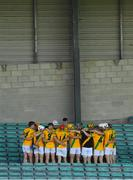 8 August 2020; The Ahane players at half time during the Limerick County Senior Hurling Championship Section A Group 2 Round 3 match between Kilmallock and Ahane at LIT Gaelic Grounds in Limerick. Photo by Matt Browne/Sportsfile