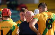 8 August 2020; Ahane manager Eamonn Meskell with his players at half time during the Limerick County Senior Hurling Championship Section A Group 2 Round 3 match between Kilmallock and Ahane at LIT Gaelic Grounds in Limerick. Photo by Matt Browne/Sportsfile