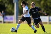 8 August 2020; Abbie Brophy of Bohemians in action against Ellen Molloy of Wexford Youths during the FAI Women's National League match between Wexford Youths and Bohemians at Ferrycarrig Park in Wexford. Photo by Sam Barnes/Sportsfile