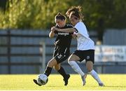 8 August 2020; Aisling Frawley of Wexford Youths in action against Sophie Watters of Bohemians during the FAI Women's National League match between Wexford Youths and Bohemians at Ferrycarrig Park in Wexford. Photo by Sam Barnes/Sportsfile