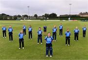 9 August 2020; The Typhoons team ahead of the Women's Super Series match between Scorchers and Typhoons at Pembroke Cricket Club in Park Avenue, Dublin. Photo by Sam Barnes/Sportsfile