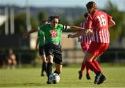 8 August 2020; Áine O'Gorman of Peamount United in action against Ellen Casey of Treaty United during the FAI Women's National League match between Peamount United and Treaty United at PRL Park in Greenogue, Dublin. Photo by Seb Daly/Sportsfile