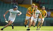 8 August 2020; Dan Morrissey of Ahane in action against Gavin O'Mahony of Kilmallock during the Limerick County Senior Hurling Championship Section A Group 2 Round 3 match between Kilmallock and Ahane at LIT Gaelic Grounds in Limerick. Photo by Matt Browne/Sportsfile
