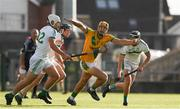 8 August 2020; Dan Morrissey of Ahane in action against Andrew Shanahan of Kilmallock at the Limerick County Senior Hurling Championship Section A Group 2 Round 3 match between Kilmallock and Ahane at LIT Gaelic Grounds in Limerick. Photo by Matt Browne/Sportsfile