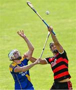 9 August 2020; Joseph Mooney of Loughrea in action against Patrick Egan of Cappataggle during the Galway County Senior Hurling Championship Group 1 match between Cappataggle and Loughrea at Duggan Park in Ballinasloe, Galway. Photo by Ramsey Cardy/Sportsfile