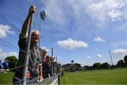 9 August 2020; Cappataggle supporter Louis Culhane watches on during the Galway County Senior Hurling Championship Group 1 match between Cappataggle and Loughrea at Duggan Park in Ballinasloe, Galway. Photo by Ramsey Cardy/Sportsfile