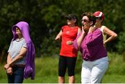 9 August 2020; Cappataggle supporters Teresa Dolan, left, and Evelyn Loughnane watch on during the Galway County Senior Hurling Championship Group 1 match between Cappataggle and Loughrea at Duggan Park in Ballinasloe, Galway. Photo by Ramsey Cardy/Sportsfile