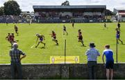 9 August 2020; Supporters watch on during the Galway County Senior Hurling Championship Group 1 match between Cappataggle and Loughrea at Duggan Park in Ballinasloe, Galway. Photo by Ramsey Cardy/Sportsfile