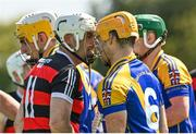 9 August 2020; James Egan of Cappataggle and Paul Huban of Loughrea during the Galway County Senior Hurling Championship Group 1 match between Cappataggle and Loughrea at Duggan Park in Ballinasloe, Galway. Photo by Ramsey Cardy/Sportsfile