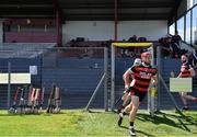 9 August 2020; Declan Cronin of Cappataggle runs onto the pitch ahead of the Galway County Senior Hurling Championship Group 1 match between Cappataggle and Loughrea at Duggan Park in Ballinasloe, Galway. Photo by Ramsey Cardy/Sportsfile