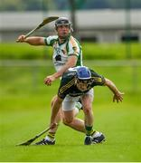 9 August 2020; Jerry Lane of Newtownshandrum in action against Stephen Murphy of Blackrock during the Cork County Senior Hurling Championship Group B Round 2 match between Newtownshandrum and Blackrock at Mallow GAA Grounds in Mallow, Cork. Photo by Piaras Ó Mídheach/Sportsfile
