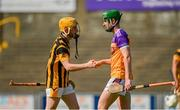 9 August 2020; Simon Donohoe of Shelmaliers and Conal Clancy of Faythe Harriers embrace following the Wexford County Senior Hurling Championship Quarter-Final match between Faythe Harriers and Shelmaliers at Chadwicks Wexford Park in Wexford. Photo by Harry Murphy/Sportsfile