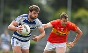 9 August 2020; Aidan O'Shea of Breaffy in action against Eoghan O'Reilly of Castlebar Mitchels during the Mayo County Senior Football Championship Group 1 Round 3 match between Castlebar Mitchels and Breaffy at Páirc Josie Munnelly in Castlebar, Mayo. Photo by Brendan Moran/Sportsfile