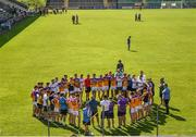 9 August 2020; Faythe Harriers players huddle following the Wexford County Senior Hurling Championship Quarter-Final match between Faythe Harriers and Shelmaliers at Chadwicks Wexford Park in Wexford. Photo by Harry Murphy/Sportsfile