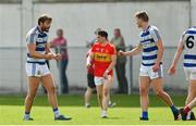 9 August 2020; Aidan O'Shea of Breaffy, left, celebrates with team-mate Conor O'Shea during the Mayo County Senior Football Championship Group 1 Round 3 match between Castlebar Mitchels and Breaffy at Páirc Josie Munnelly in Castlebar, Mayo. Photo by Brendan Moran/Sportsfile