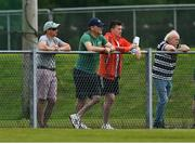 9 August 2020; Mayo manager James Horan, 2nd from left, and Cillian O'Connor in attendance during the Mayo County Senior Football Championship Group 1 Round 3 match between Castlebar Mitchels and Breaffy at Páirc Josie Munnelly in Castlebar, Mayo. Photo by Brendan Moran/Sportsfile