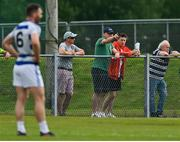 9 August 2020; Mayo manager James Horan and Cillian O'Connor in attendance during the Mayo County Senior Football Championship Group 1 Round 3 match between Castlebar Mitchels and Breaffy at Páirc Josie Munnelly in Castlebar, Mayo. Photo by Brendan Moran/Sportsfile