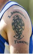 9 August 2020; A detailed view of a tattoo on the shoulder of Dan Shanahan of Lismore ahead of the Waterford County Senior Hurling Championship Group D match between Dungarvan and Lismore at Fraher Field in Dungarvan, Waterford. Photo by Eóin Noonan/Sportsfile