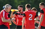 9 August 2020; Jason Flynn of Tommy Larkins takes a drink during a water break during the Galway County Senior Hurling Championship Group 1 match between Tommy Larkins and Tynagh Abbey Duniry at Duggan Park in Ballinasloe, Galway. Photo by Ramsey Cardy/Sportsfile