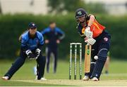 9 August 2020; Gaby Lewis of Scorchers plays a shot during the Women's Super Series match between Scorchers and Typhoons at Pembroke Cricket Club in Park Avenue, Dublin. Photo by Sam Barnes/Sportsfile