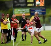 9 August 2020; James McCaughey of Donaghmoyne in action against Desmond Ward of Ballybay during the Monaghan Senior Football Championship Group 1 Round 3 match between Ballybay and Donaghmoyne at Ballybay Pearse Brothers GAA Club in Ballybay, Monaghan. Photo by Philip Fitzpatrick/Sportsfile