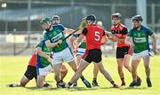 9 August 2020; Thomas Gordon of Tynagh Abbey Duniry comes away with possession during the Galway County Senior Hurling Championship Group 1 match between Tommy Larkins and Tynagh Abbey Duniry at Duggan Park in Ballinasloe, Galway. Photo by Ramsey Cardy/Sportsfile